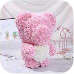 ursulet roz 40 cm in picioare