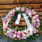 coroana roz lila 50 cm, 555 lei
